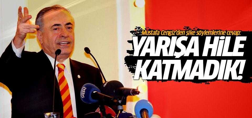 Mustafa Cengiz'den şike söylemlerine cevap…