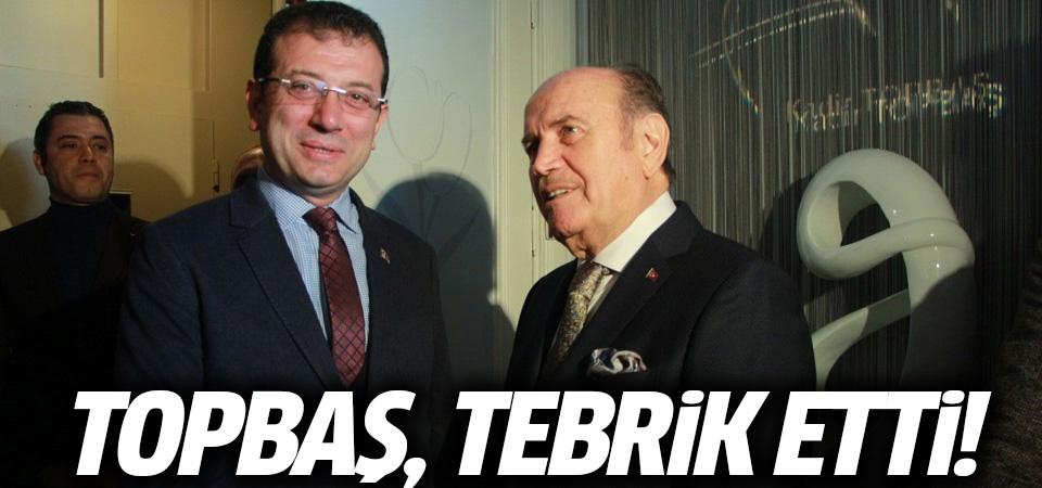 Kadir Topbaş, İmamoğlu'nu tebrik etti