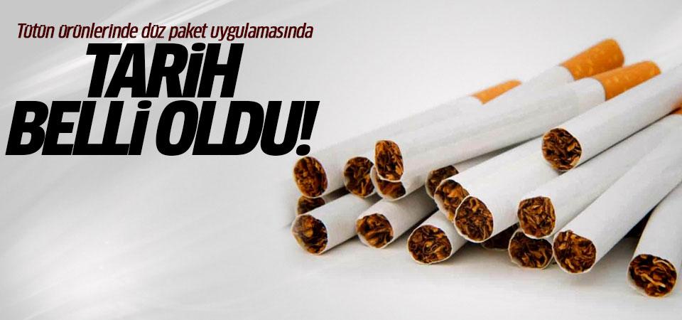 Tütün ürünlerinde düz paket uygulamasında tarih belli oldu