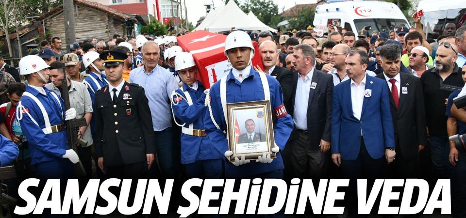 Samsun'da şehit Binbaşı Zafer Akkuş'a veda