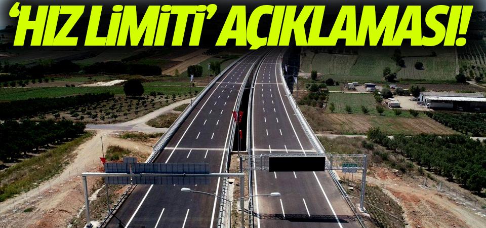 Bakanlık'tan 'hız limiti' açıklaması