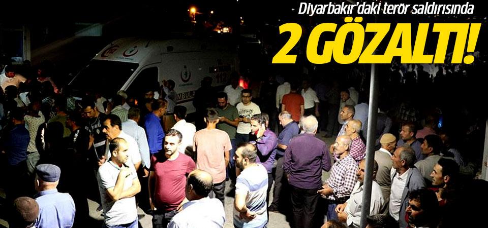 Diyarbakır'daki terör saldırısında 2 gözaltı!