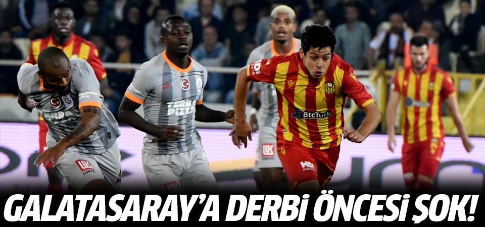 Galatasaray'a derbi öncesi şok! 1-1