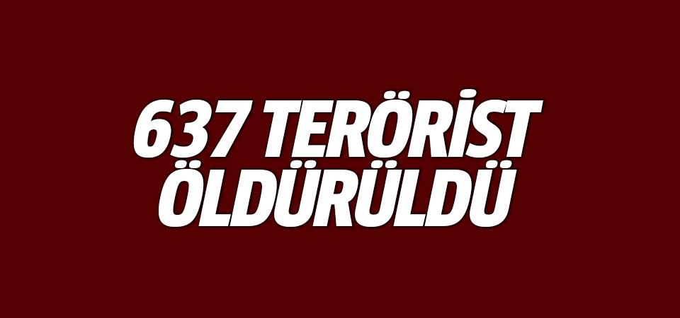MSB: 637 terörist öldürüldü