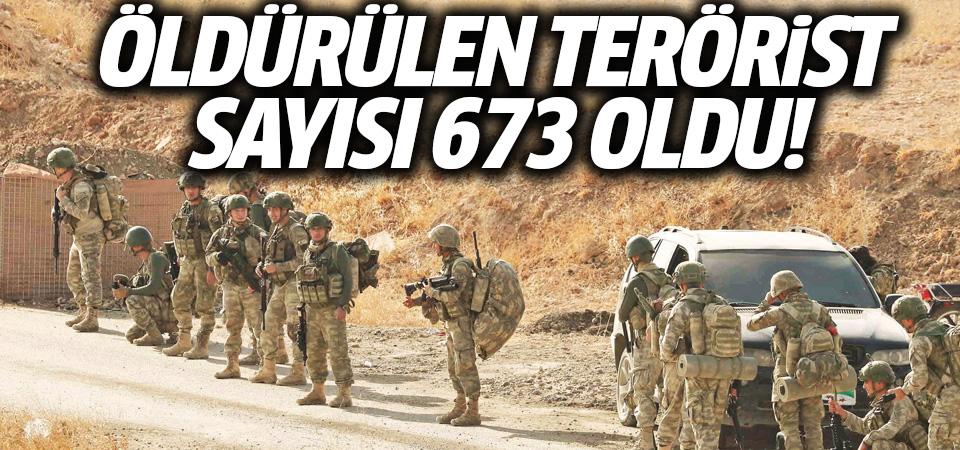 MSB: Barış Pınarı Harekâtı'nda etkisiz hale getirilen terörist sayısı 673 oldu