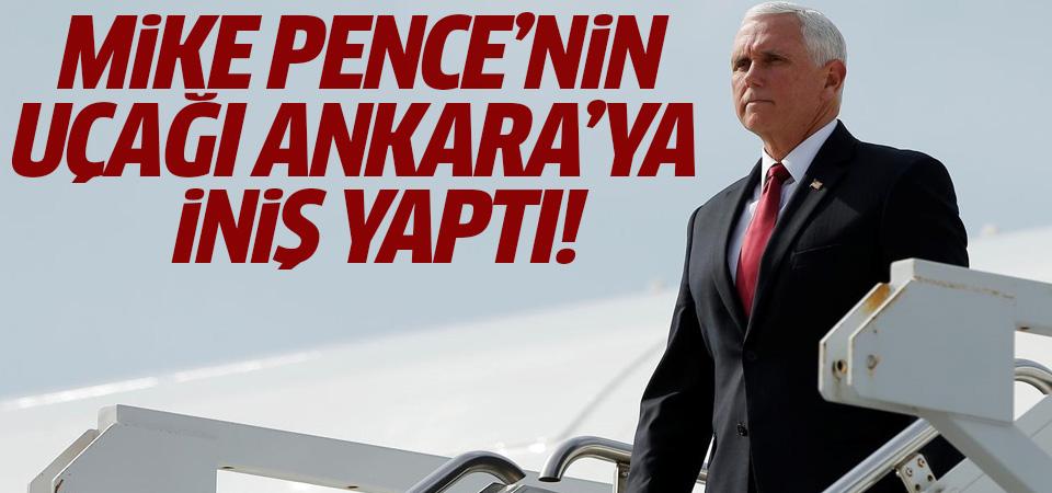 ABD Başkan Yardımcısı Pence'in uçağı Esenboğa Havaalanı'na indi
