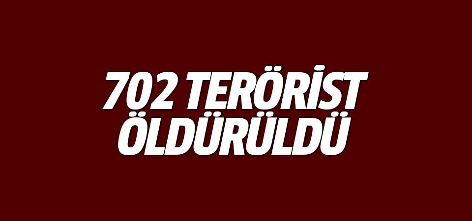 MSB:702 terörist öldürüldü