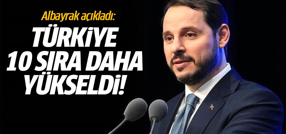 Albayrak açıkladı: Türkiye 10 sıra daha yükseldi