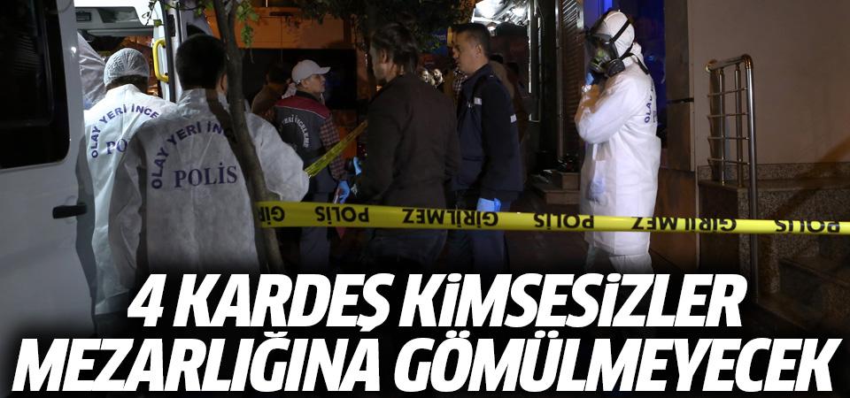 İBB: Fatih'te ölü bulunan 4 kardeş kimsesizler mezarlığına gömülmeyecek