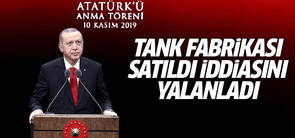 Erdoğan: Tank fabrikası satılmadı Katarlılar ortak oldu