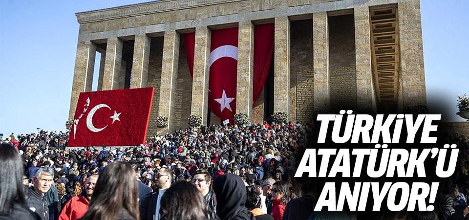 Türkiye, Büyük Önder Mustafa Kemal Atatürk'ü anıyor