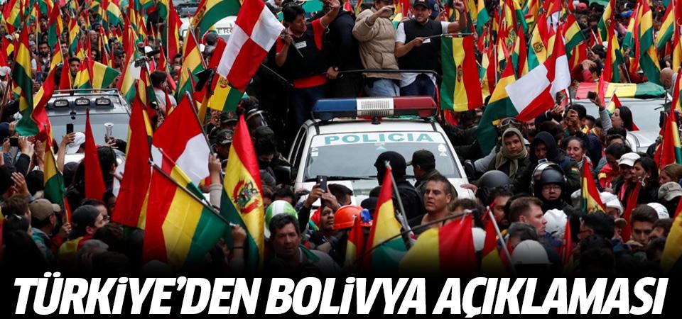 Dışişleri Bakanlığı'ndan 'Bolivya' açıklaması: Endişeyle izliyoruz