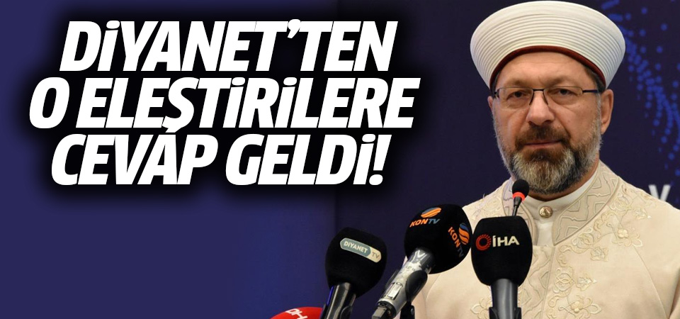 Diyanet İşleri Başkanı Erbaş'tan kamu spotu eleştirilerine tepki