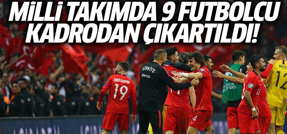 9 futbolcu Türkiye A Milli Takım kadrosundan çıkarıldı