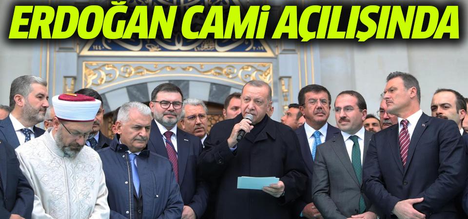 Erdoğan, Ege Üniversitesi'ndeki caminin açılışını yaptı