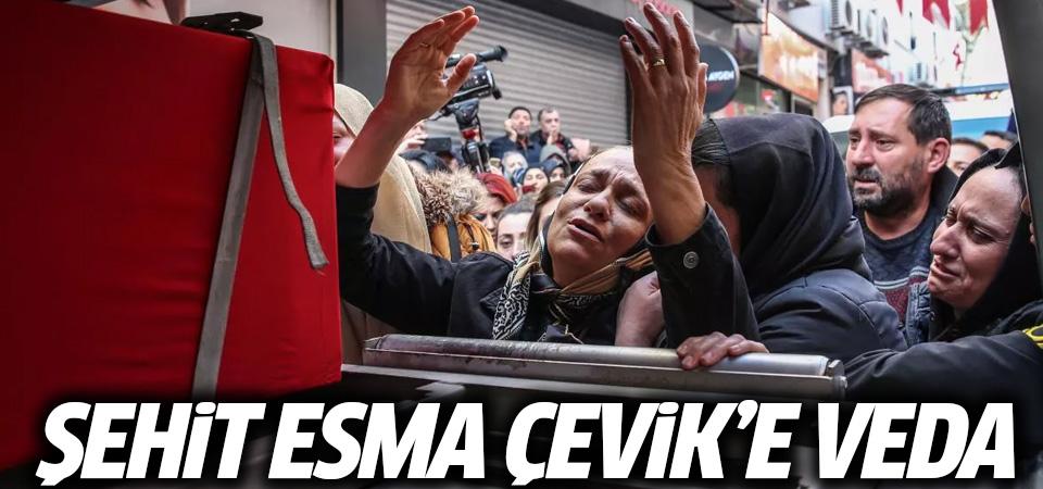 Şehit Astsubay Esma Çevik'e son veda! Gözyaşı sel oldu aktı