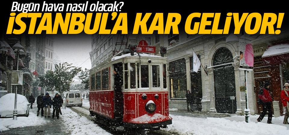 Meteoroloji'den son dakika uyarısı: İstanbul'a kar geliyor