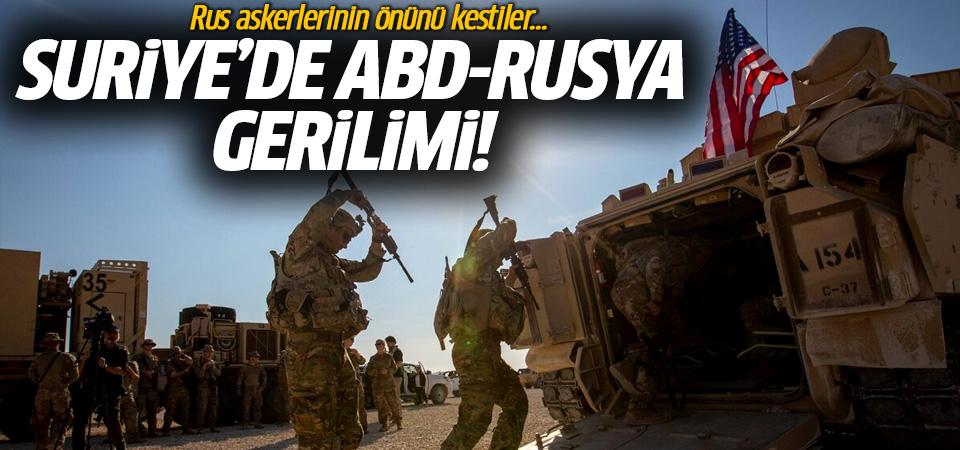 ABD ve Rusya, Suriye'de kapıştı! Rus askerlerinin yolunu kestiler