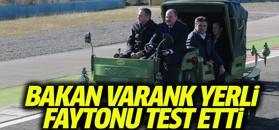 Bakan Varank, yerli üretim elektrikli faytonu test etti