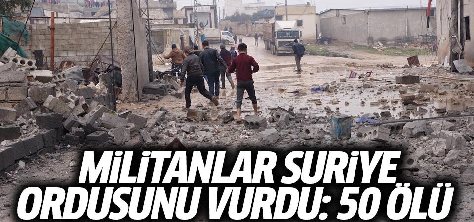 Rusya duyurdu! Militanlar Suriye Ordusu'nu vurdu: 50 ölü