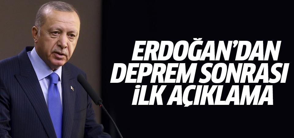 Erdoğan'dan Elazığ depremine ilişkin ilk açıklama
