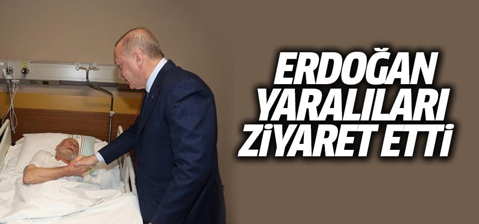 Cumhurbaşkanı Erdoğan Elazığ'da hastanedeki yaralıları ziyaret etti