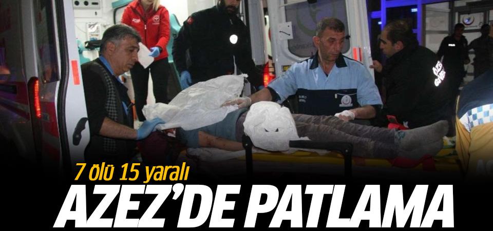 Azez'de sivillere YPG'li teröristlerden bombalı saldırı