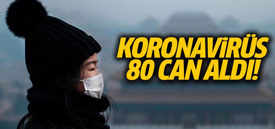 Koronavirüsten ölenlerin sayısı 80'e yükseldi