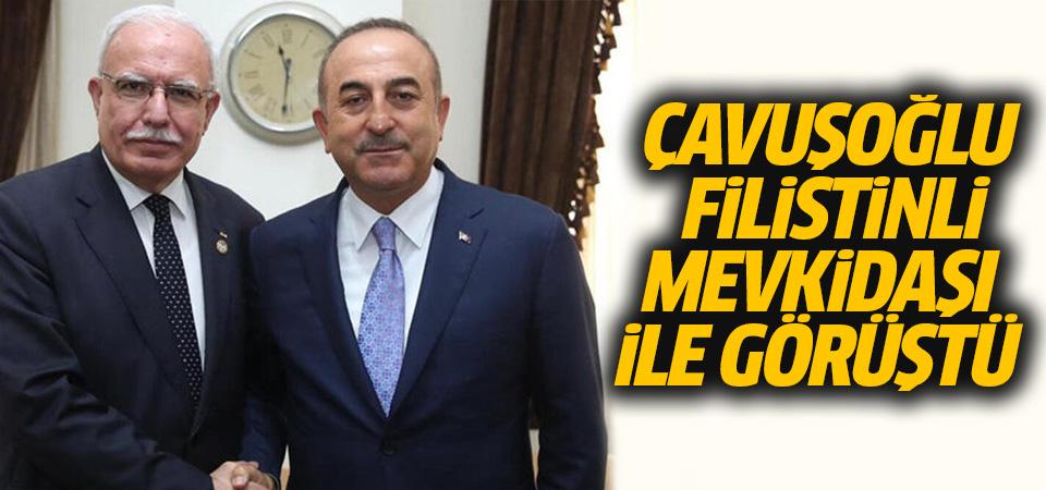 Çavuşoğlu, Filistinli mevkidaşıyla ABD'nin Ortadoğu planını görüştü
