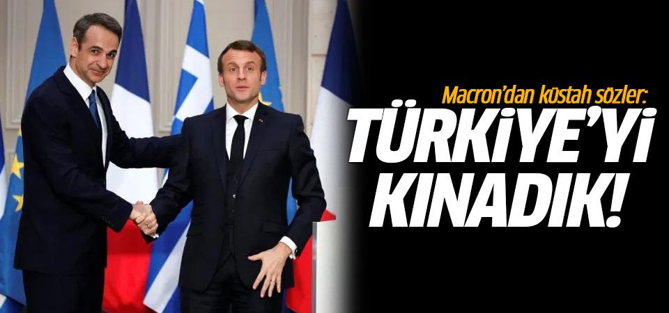 Macron'dan küstah sözler: Türkiye'yi kınadık!