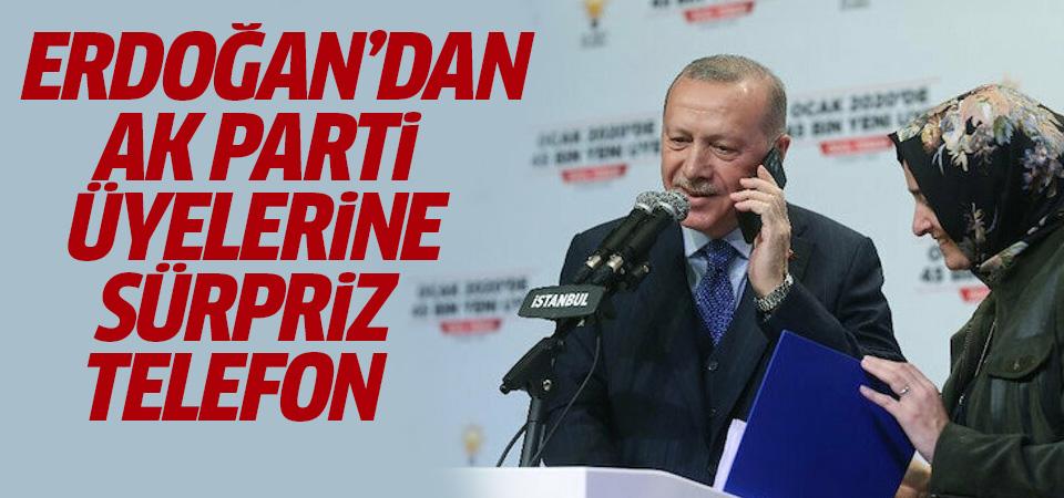 Erdoğan'dan canlı yayında AK Parti üyelerine sürpriz telefon