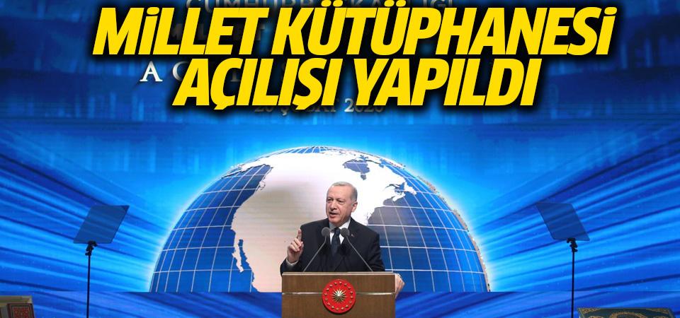 Cumhurbaşkanı Erdoğan, Cumhurbaşkanlığı Millet Kütüphanesi açılışında