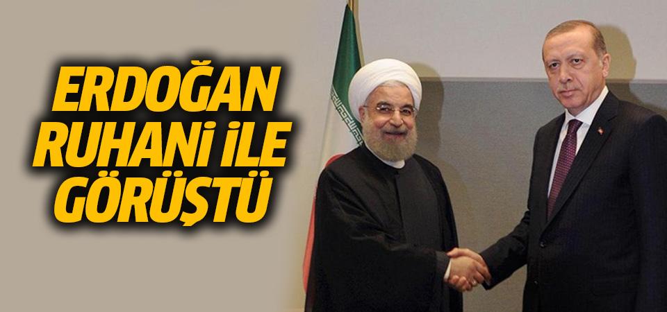 Erdoğan Ruhani ile görüştü: İdlib'deki gelişmeler ele alındı