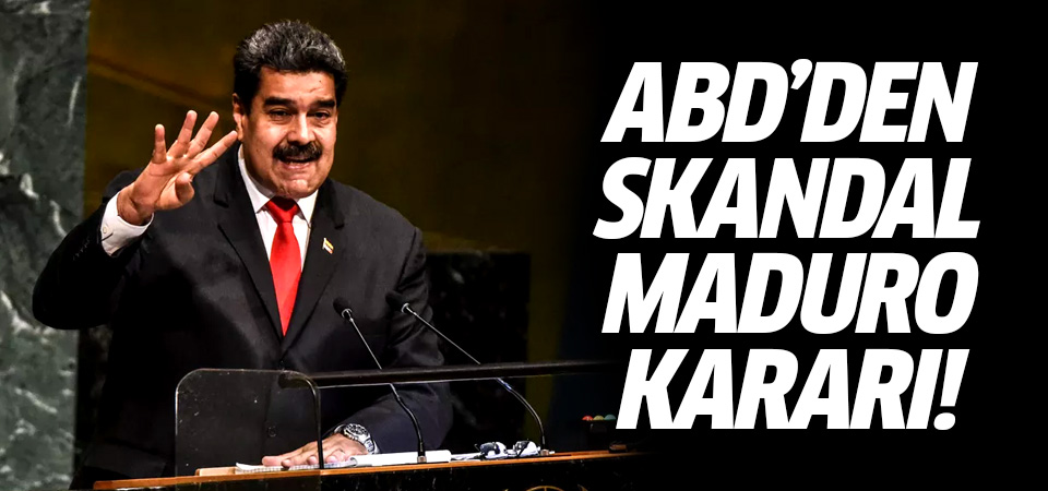 ABD'den skandal Maduro kararı! 15 milyon dolar ödül...