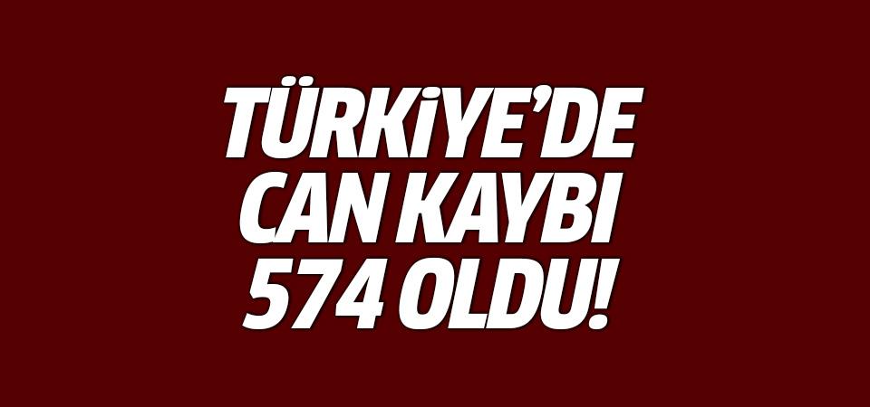 Türkiye'de can kaybı 574 oldu