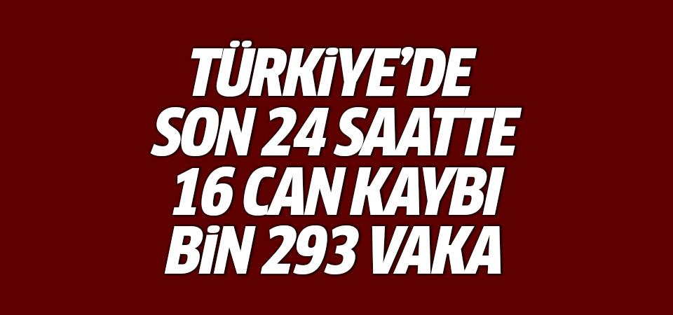 Türkiye'de corona virüsten son 24 saatte 16 can kaybı, bin 293 vaka