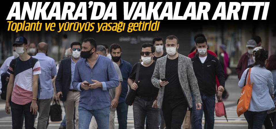 Ankara Valiliği vaka sayılarının arttığını duyurdu