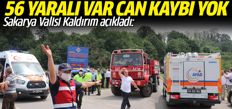 Sakarya'daki patlamaya ilişkin Vali Kaldırım'dan açıklama