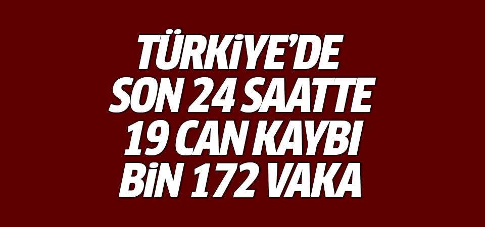 Türkiye'de corona virüsten son 24 saatte 19 can kaybı, bin 172 vaka