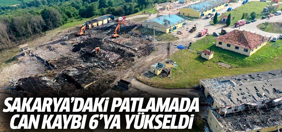 Sakarya'daki patlamada can kaybı 6'ya yükseldi
