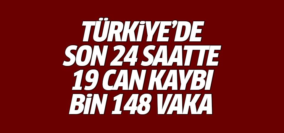 Türkiye'de corona virüsten son 24 saatte 19 can kaybı, bin 148 vaka