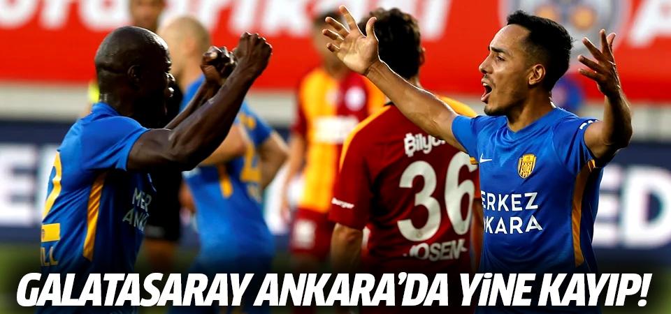 Galatasaray Ankara'da yine kayıp! 1-0