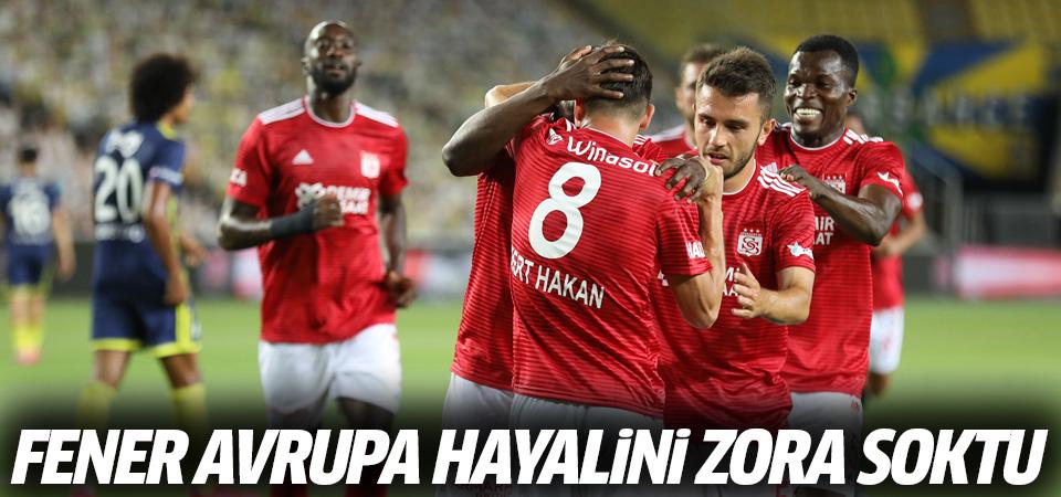 Fenerbahçe Avrupa hayalini zora soktu! 2-1