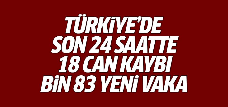 Türkiye'de corona virüsten son 24 saatte 18 can kaybı, bin 83 vaka