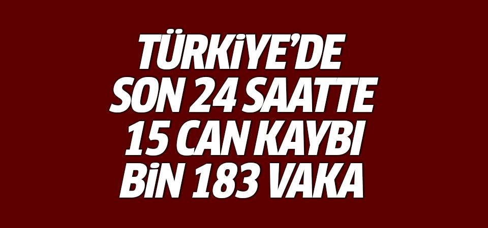 Türkiye'de corona virüsten son 24 saatte 15 can kaybı, bin 183 vaka