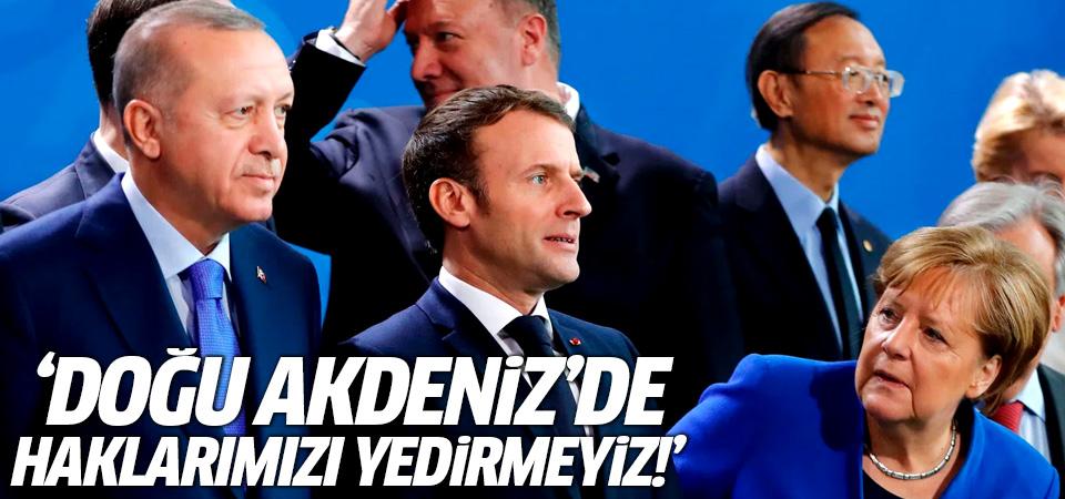Erdoğan, Merkel ile görüştü: Doğu Akdeniz'de haklarımızı yedirmeyiz
