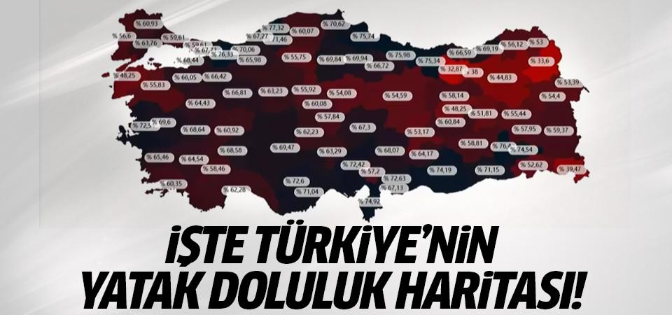 İşte Türkiye'nin yatak doluluk haritası!