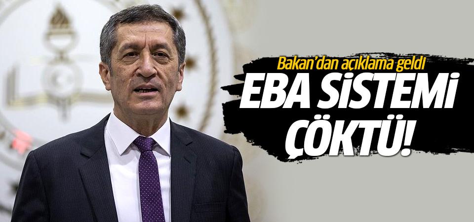 EBA çöktü! Bakan'dan açıklama geldi