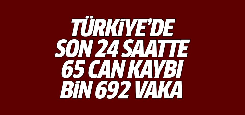 Türkiye'de corona virüsten son 24 saatte 65 can kaybı, bin 692 vaka 22 Eylül 2020