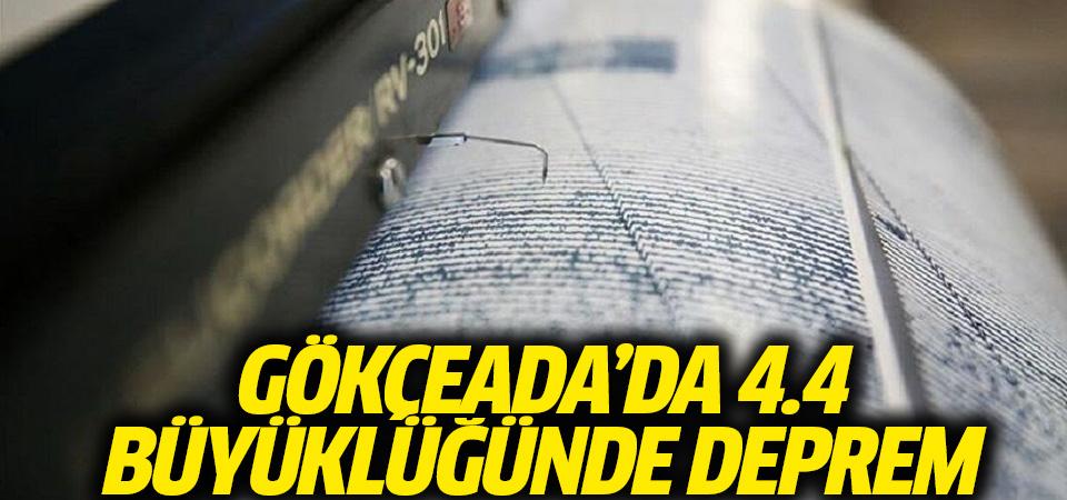 Gökçeada açıklarında 4.4 büyüklüğünde deprem